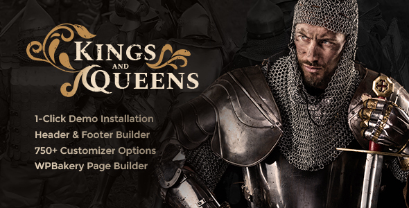 Kings & Queens v1.0 - Historical Reenactment WordPress Theme