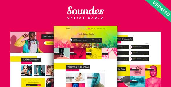 Sounder - Online Radio WordPress Theme