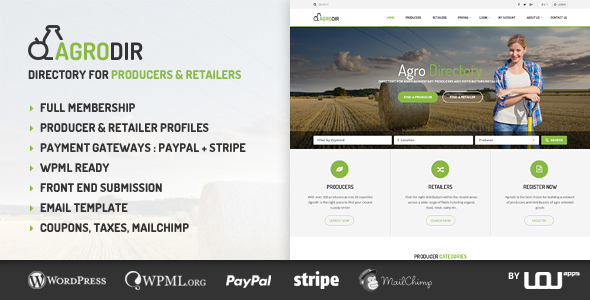 Agrodir v1.1.0 - Directory for Producers & Retailers