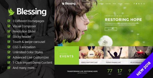 Blessing v4.3 - Responsive Theme for Church Websites