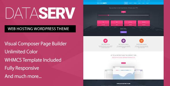 Dataserv v1.0.7 - Professional Hosting WordPress Theme