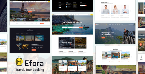 Efora v2.0 - Travel, Tour Booking Theme