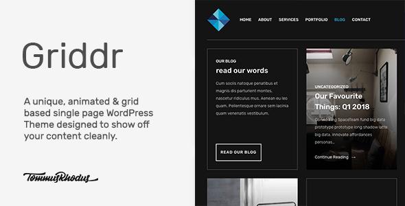 Griddr v1.0.3 - Animated Grid Creative WordPress Theme