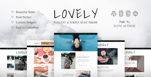 Lovely - Elegant & Simple Blog Theme v1.0.2