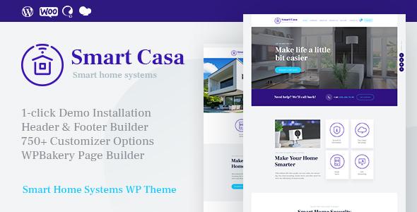 Smart Casa v1.0.2 - Home Automation & Technologies Theme