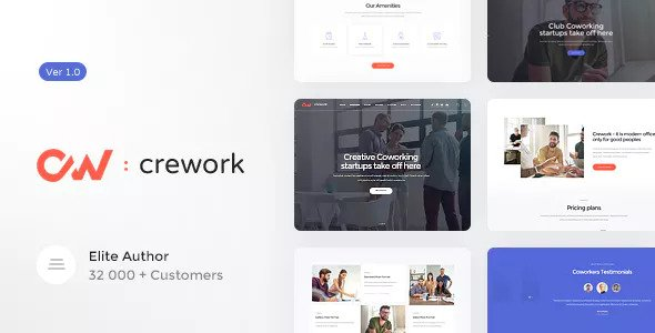 Crework v1.1.1 - Coworking and Creative Space Theme