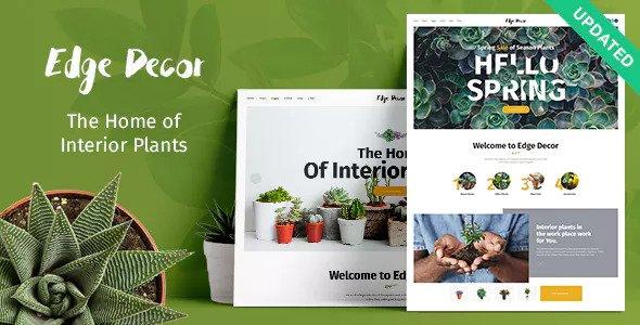 Edge Decor v1.0.1 - A Modern Gardening & Landscaping Theme