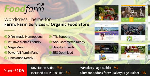FoodFarm v1.7.8 - WordPress Theme for Farm and Organic Food Store