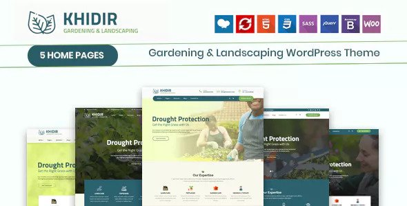 Khidir v1.0 - Gardening & Landscaping WordPress Theme