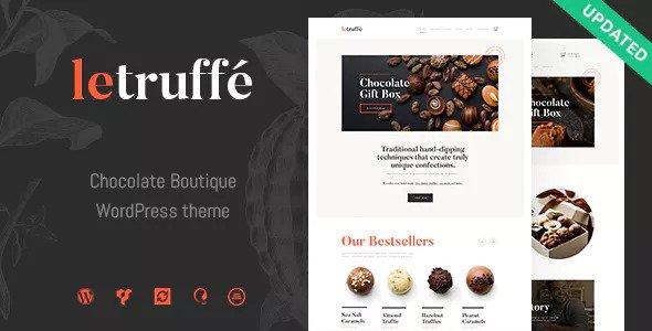 Le Truffe v1.0 - Chocolate Boutique WordPress Theme