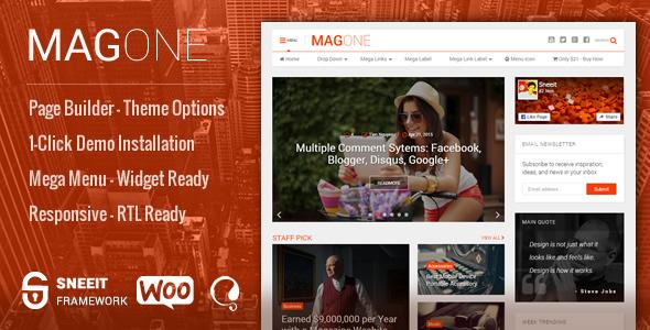 MagOne v6.2 - Newspaper & Magazine WordPress Theme