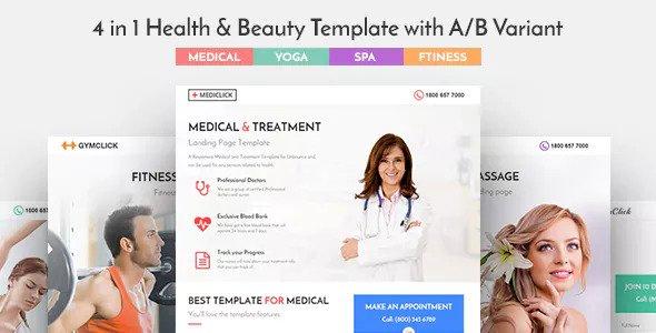 Mediclick v1.0.1 - Medical Landing Page WordPress Theme