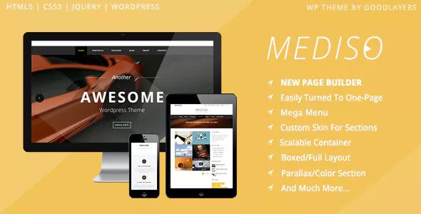 Mediso v1.21 - Corporate / One-Page / Blogging WP Theme
