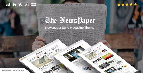NewsPaper v4.0 - News & Magazine WordPress Theme