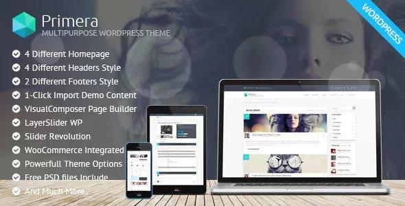Primera v1.1.0 - Corporate Multipurpose WordPress Theme