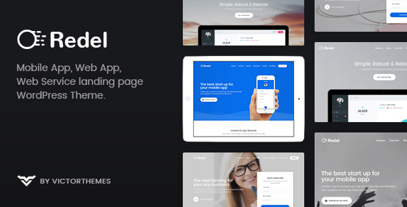 Redel v1.6 - Responsive App Landing WordPress Theme