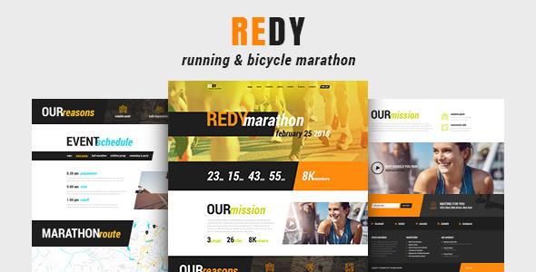 Redy v1.0.3 - Marathon & Sports WordPress Theme