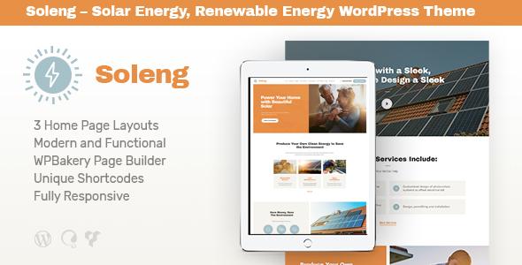 Soleng v1.0.3 - A Solar Energy Company WordPress Theme