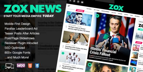 Zox News v3.1.1 - Professional WordPress News