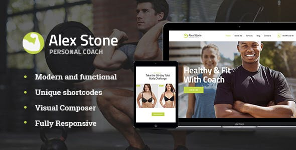 Alex Stone v1.1 - Personal Gym Trainer WordPress Theme