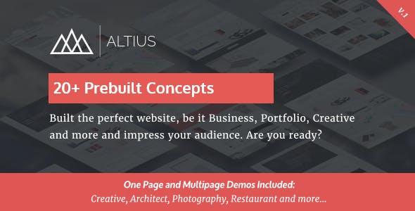 Altius v1.1 - Multi-Purpose WordPress Theme