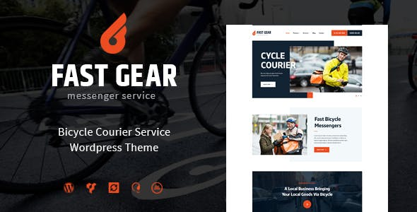 Fast Gear v1.1.0 - Courier and Delivery Services WordPress Theme