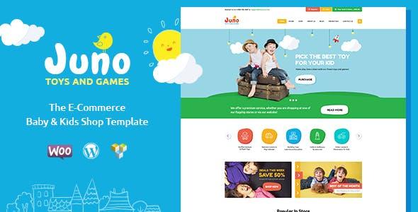 Juno v1.5 - Kids Toys & Games Store WordPress Theme