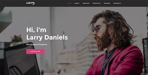 Larry v1.0.2 - Personal Onepage WordPress Theme