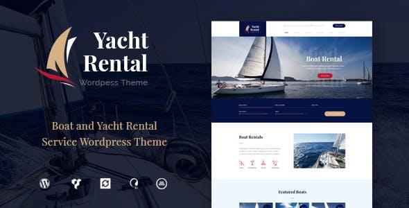 Yacht and Boat Rental Service v1.2 - WordPress Theme