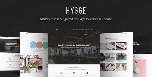 Hygge v1.0.10 - Multipurpose Single/Multi Page WP Theme