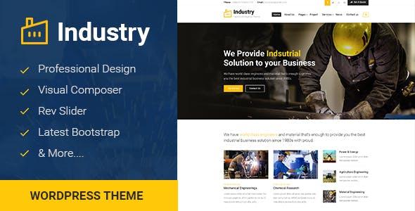 Industry v1.0 - Factory & Industrial Business WordPress Theme – JOJOThemes