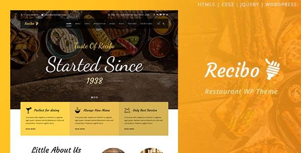 Recibo v1.2.2 - Restaurant / Food / Cook WordPress Theme