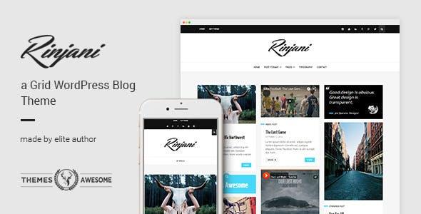 Rinjani v1.6 - A Responsive Grid Blog Theme