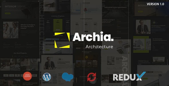 Archia v1.0 - Architecture & Interior WordPress Theme