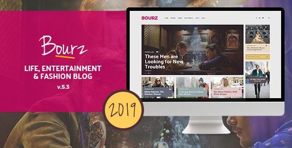 Bourz - Life, Entertainment & Fashion Blog Theme