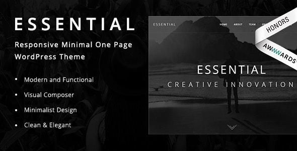 Essential v1.9 - Responsive Minimal One Page WordPress Theme