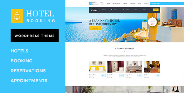 Hotel Booking v1.4.2 - WordPress Theme for Hotels