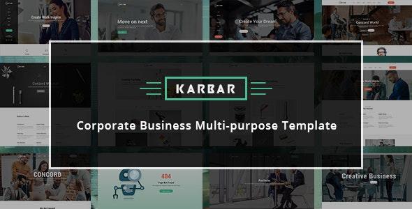Karbar - Multipurpose Bootstrap 4 Template