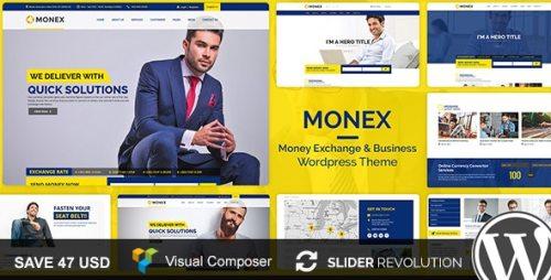 Monex v1.6 - Money Exchange & Finance Business WordPress Theme