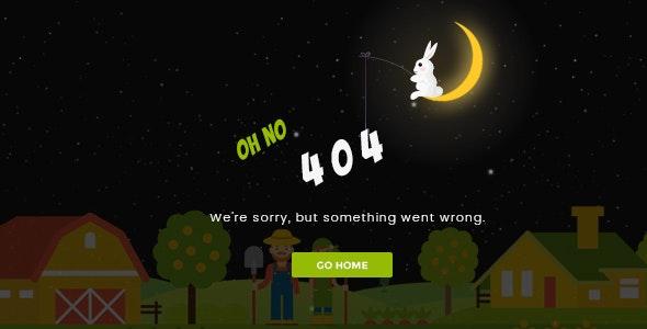 Sunset v1.0 - Creative Animated 404 Page