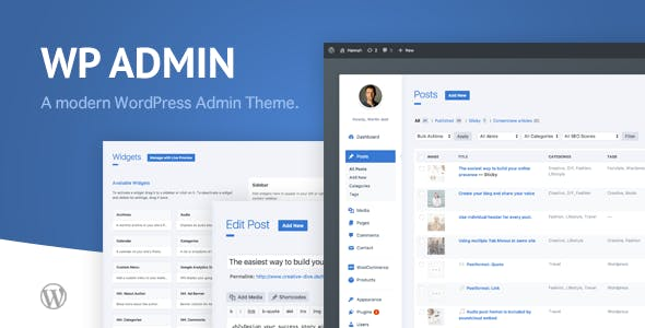 WP Admin Theme CD - A clean and modern WordPress Admin Theme