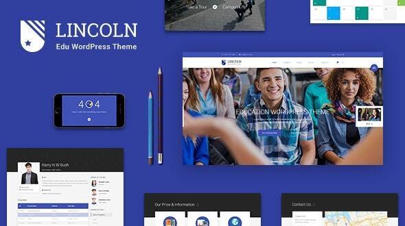 Lincoln v4.3.1 - Education Material Design WordPress Theme