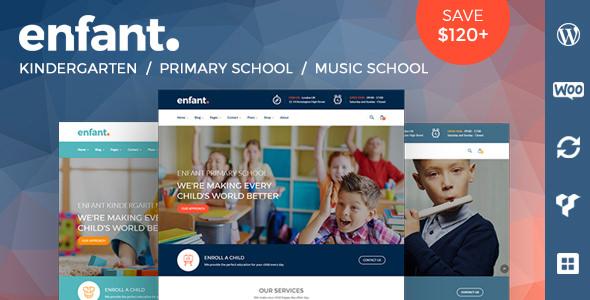 Enfant v3.1.4 - School and Kindergarten WordPress Theme