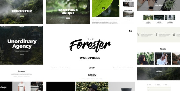 The Forester v1.2.9 - WordPress Minimalist Portfolio Theme