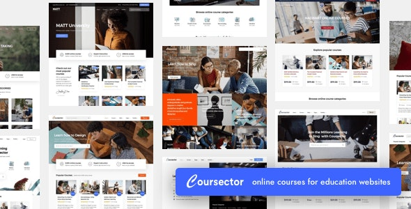 Coursector v1.4.1 - LMS Education WordPress Theme