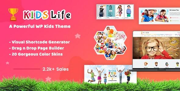 Kids Life v1.8 - Children WordPress Theme