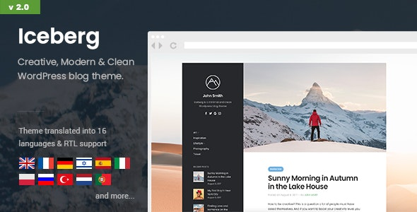 Iceberg v2.0 - Simple & Minimal Personal Content-focused
