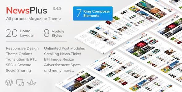 NewsPlus v3.7.0 - News and Magazine WordPress theme