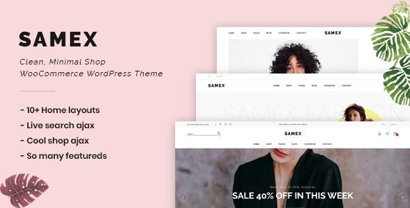Samex v1.3 - Clean, Minimal Shop WooCommerce WordPress Theme