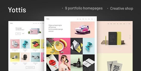 Yottis v1.0 - Personal Creative Portfolio WordPress Theme + Store